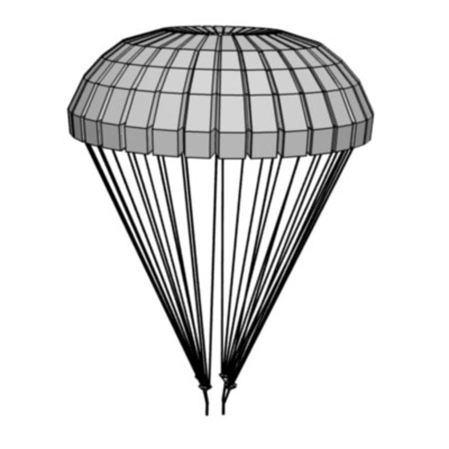parachute2 royalty-free 3d model - Preview no. 3