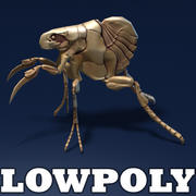 Insect monster - lowpoly model 3d model