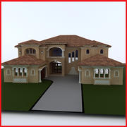 Haute définition grande latine Hacienda Modern 3 3d model