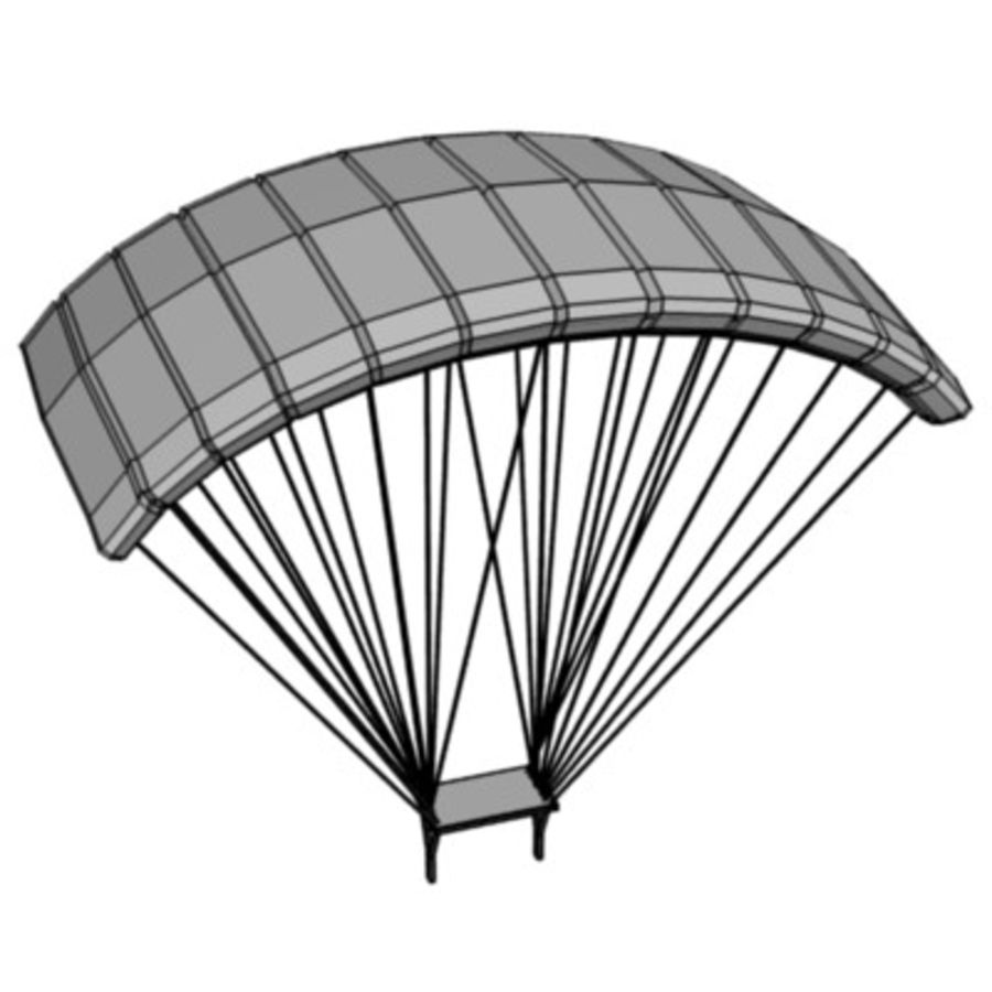 parachute3 royalty-free 3d model - Preview no. 3