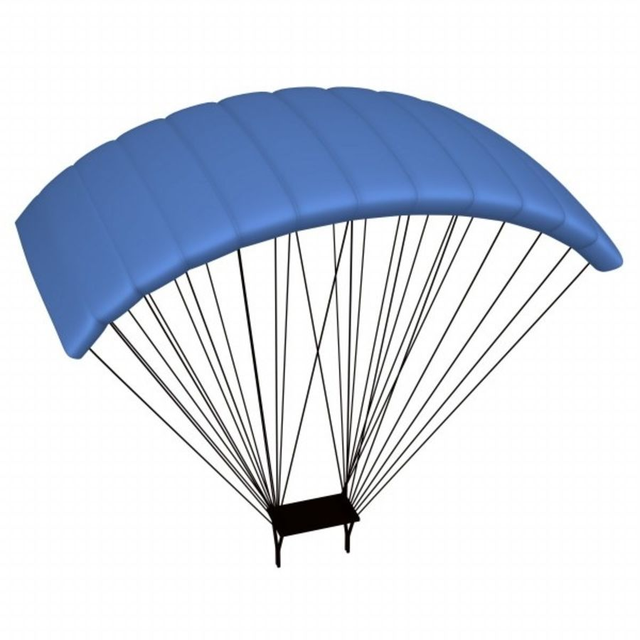 parachute3 royalty-free 3d model - Preview no. 1