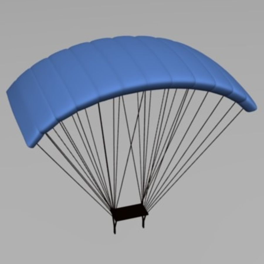 parachute3 royalty-free 3d model - Preview no. 2