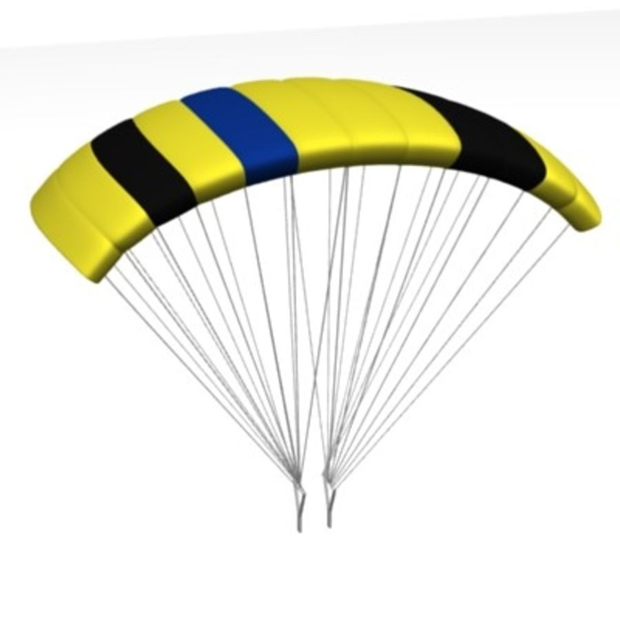 parachute4 royalty-free 3d model - Preview no. 2