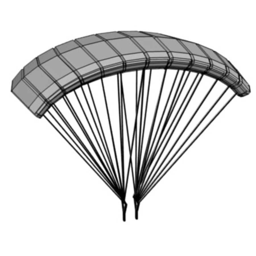 parachute4 royalty-free 3d model - Preview no. 3
