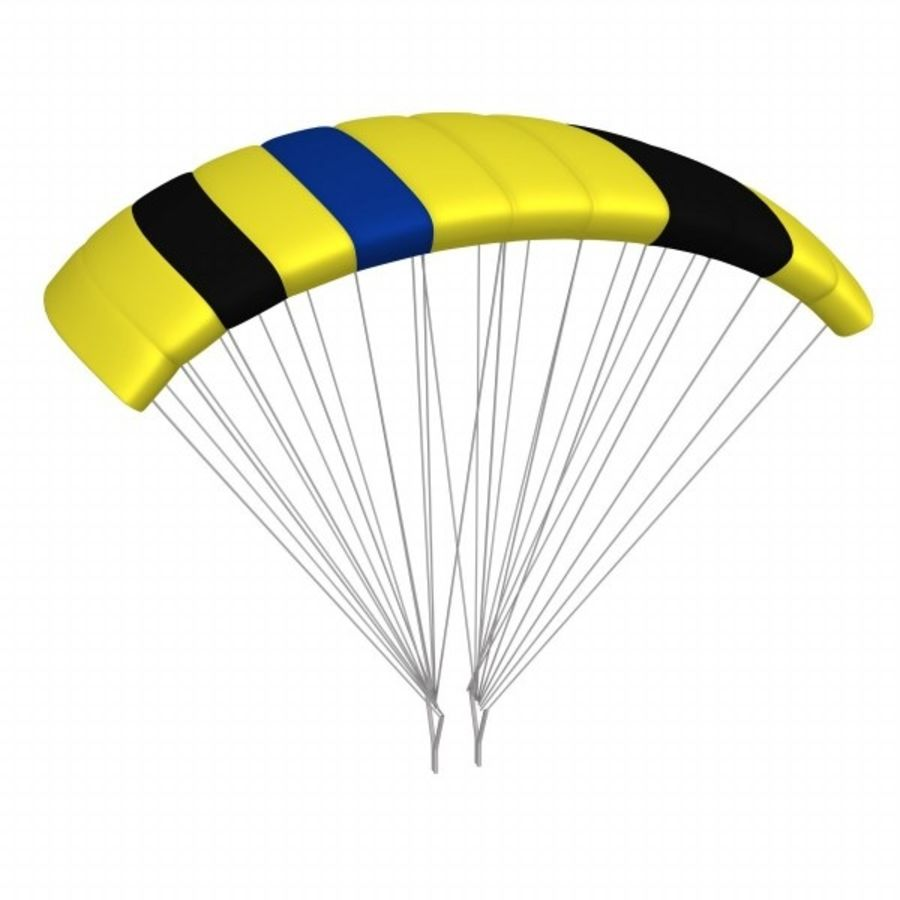 parachute4 royalty-free 3d model - Preview no. 1