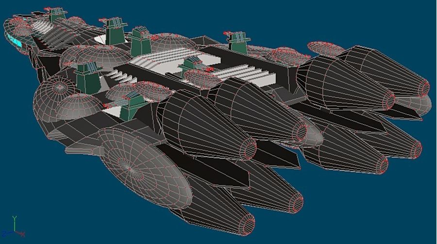 Śmigłowiec bojowy royalty-free 3d model - Preview no. 3
