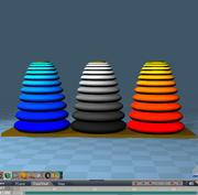 Ханойская башня.zip 3d model