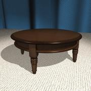 圆形咖啡桌 3d model