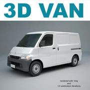 Toyota Van 3d model