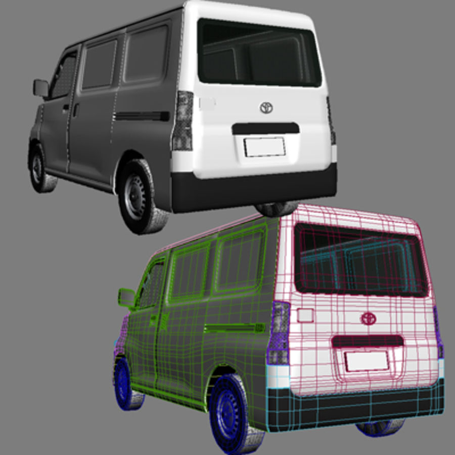 Toyota Van royalty-free 3d model - Preview no. 7