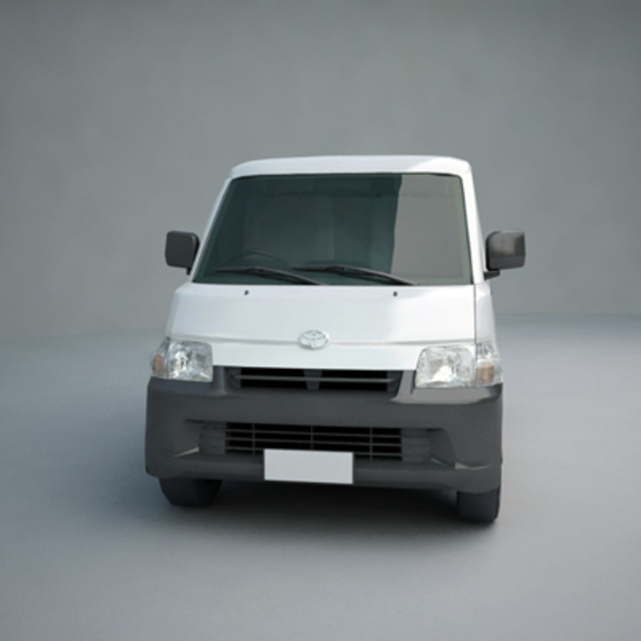 Toyota Van royalty-free 3d model - Preview no. 4