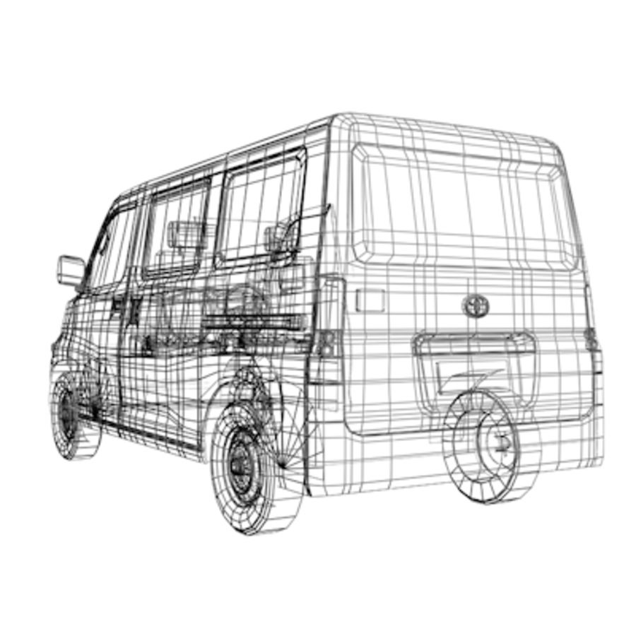 Toyota Van royalty-free 3d model - Preview no. 11