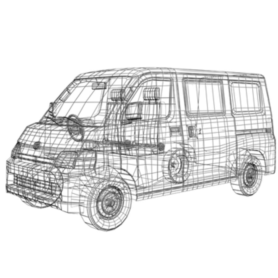Toyota Van royalty-free 3d model - Preview no. 10