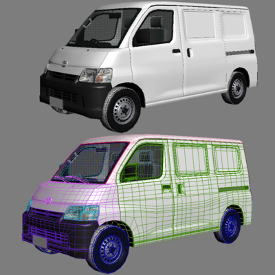 Toyota Van royalty-free 3d model - Preview no. 6