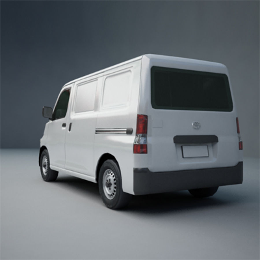 Toyota Van royalty-free 3d model - Preview no. 3
