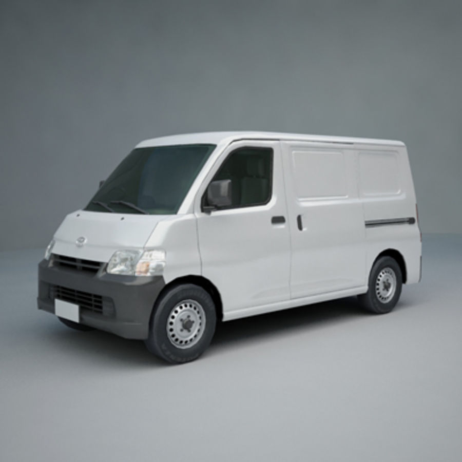 Toyota Van royalty-free 3d model - Preview no. 5