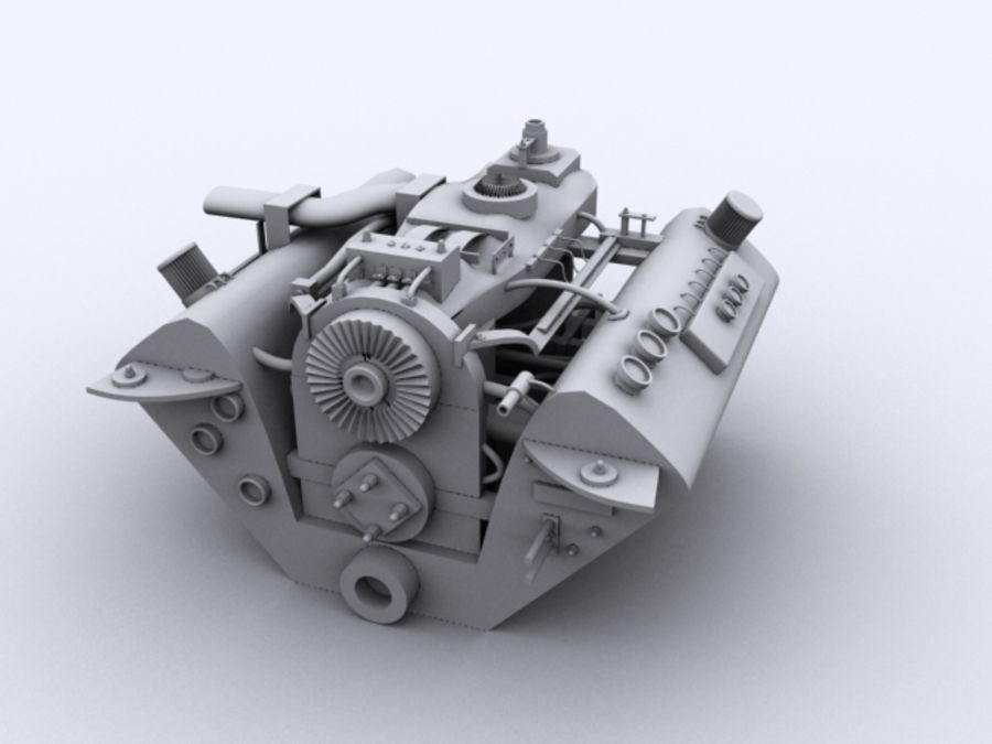 Vehicle Engine royalty-free 3d model - Preview no. 4