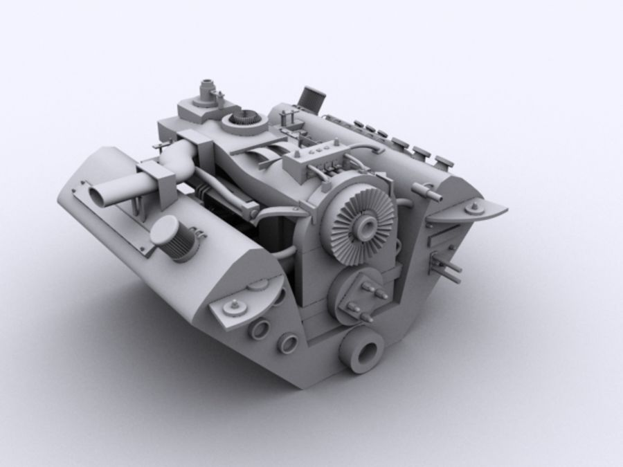 Vehicle Engine royalty-free 3d model - Preview no. 1