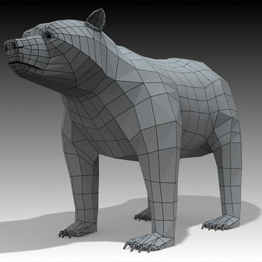 Bear royalty-free 3d model - Preview no. 3