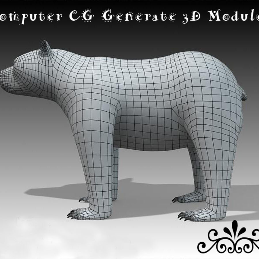 Bear royalty-free 3d model - Preview no. 7