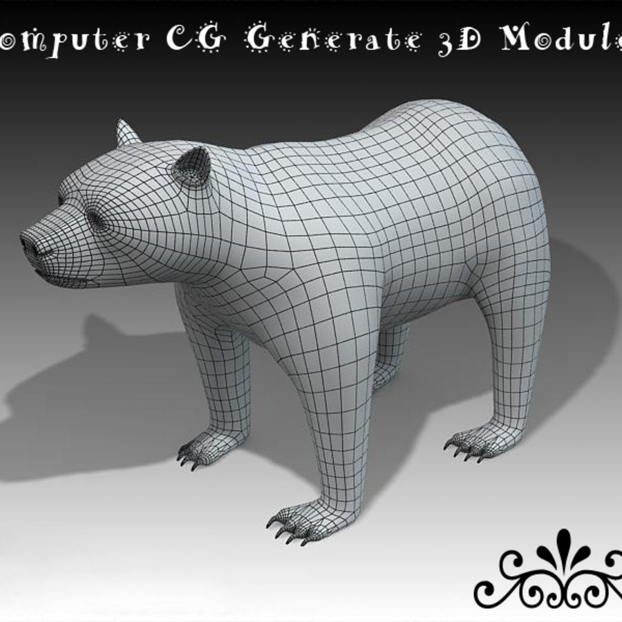Bear royalty-free 3d model - Preview no. 6