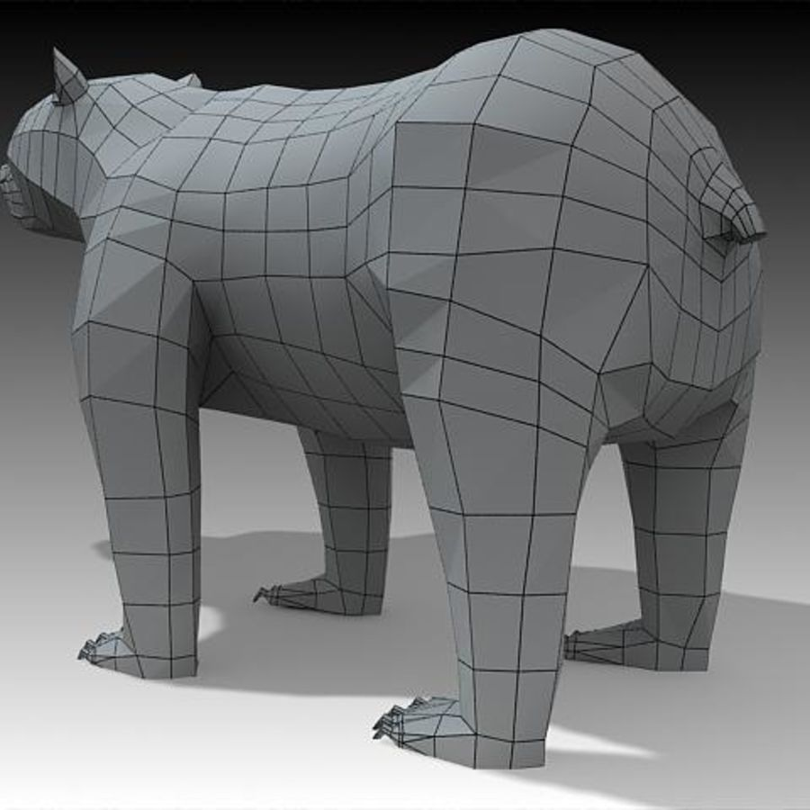 Bear royalty-free 3d model - Preview no. 2