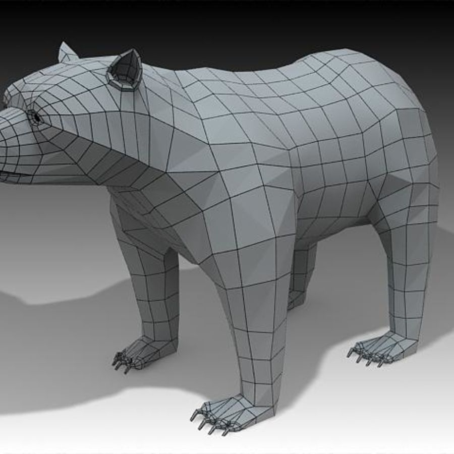 Bear royalty-free 3d model - Preview no. 4