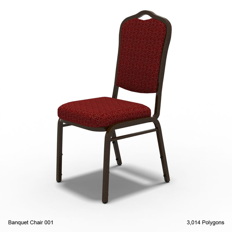 Banquet Chair 001 royalty-free 3d model - Preview no. 1