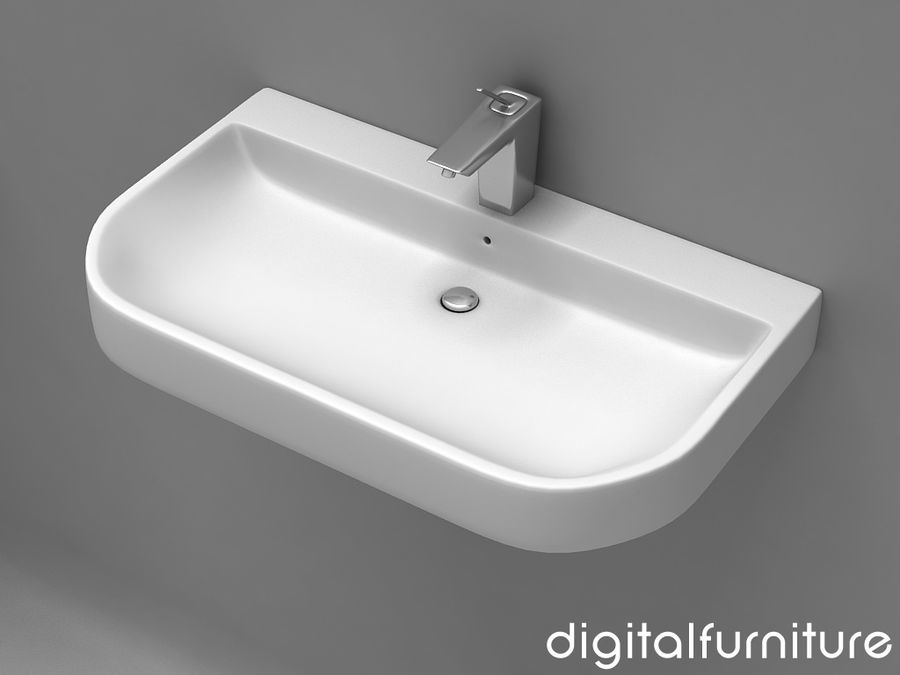 Washbasins 11 royalty-free 3d model - Preview no. 1