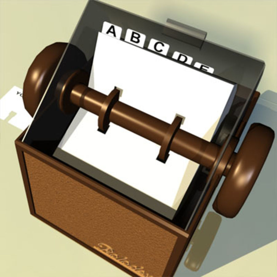 Rolodex Card File 01 royalty-free 3d model - Preview no. 6