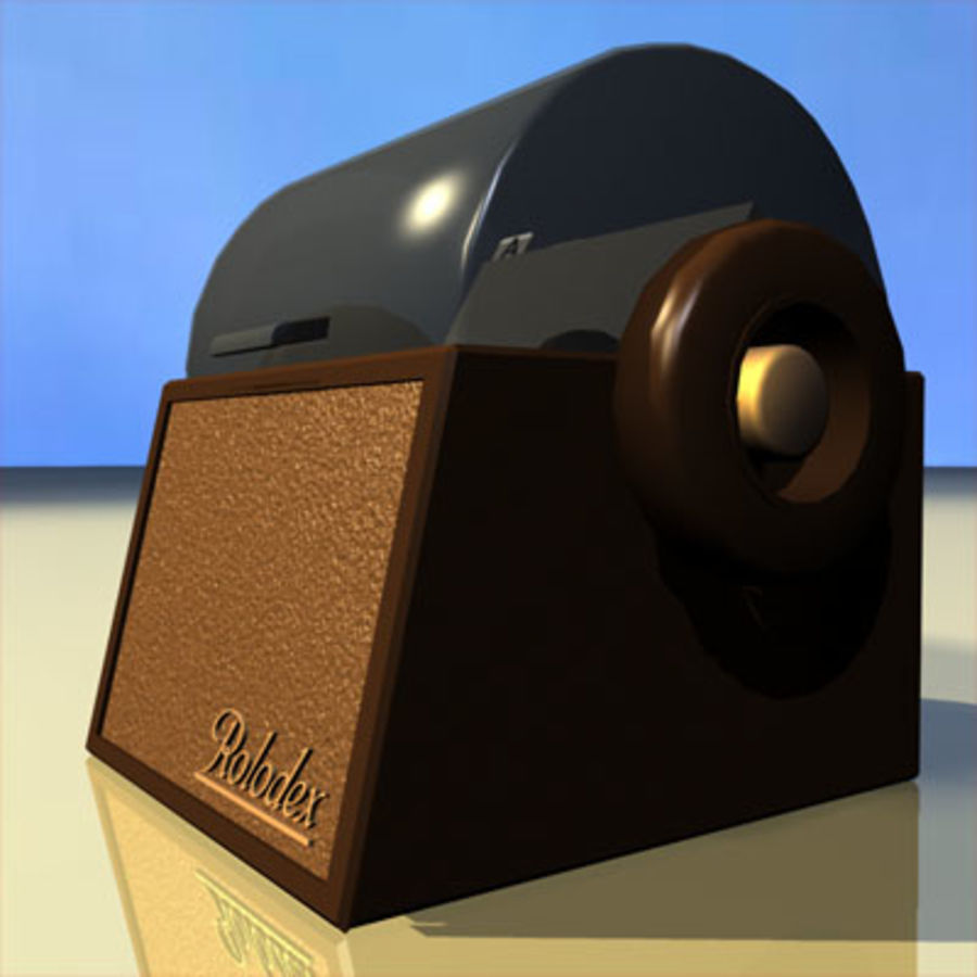 Rolodex Card File 01 royalty-free 3d model - Preview no. 7