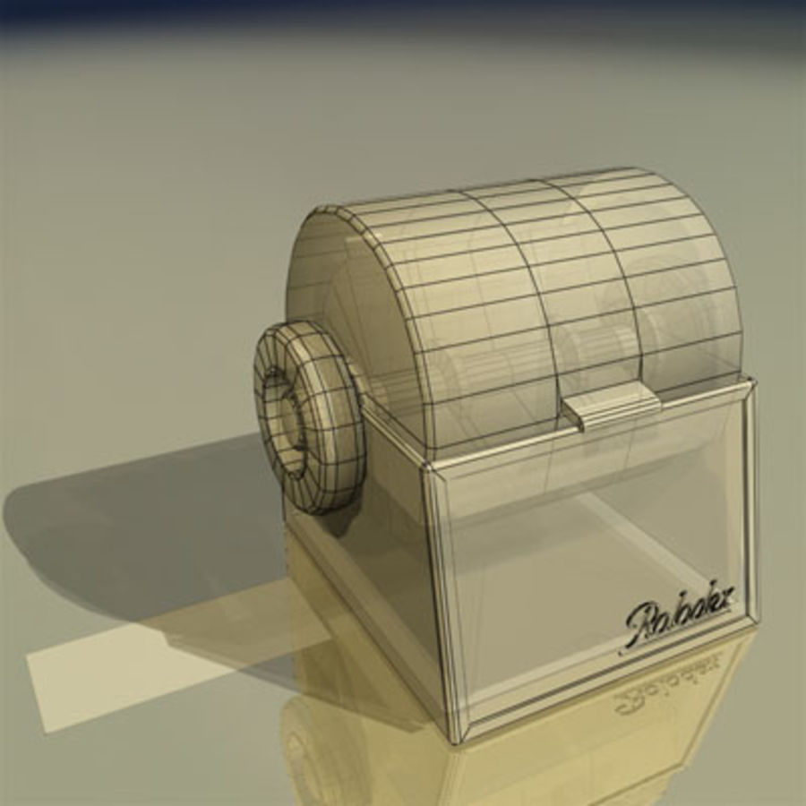 Rolodex Card File 01 royalty-free 3d model - Preview no. 3