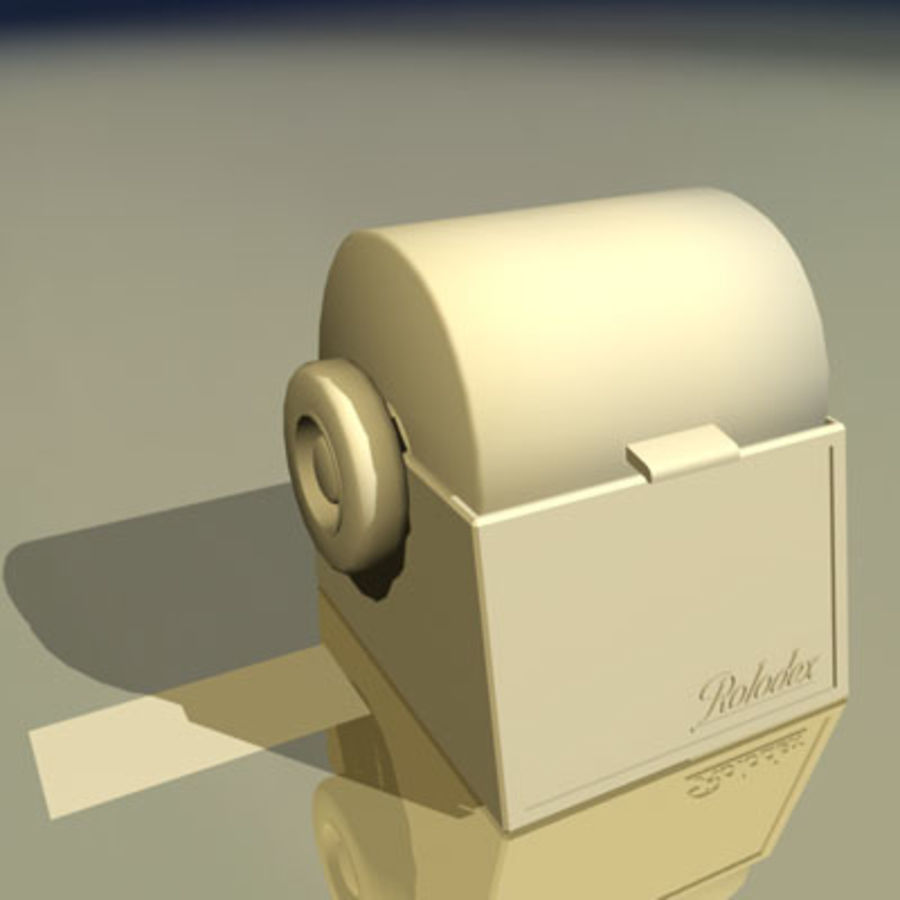 Rolodex Card File 01 royalty-free 3d model - Preview no. 2