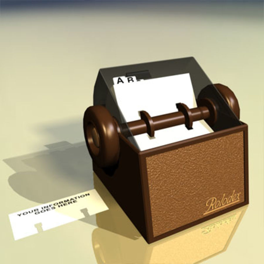Rolodex Card File 01 royalty-free 3d model - Preview no. 5