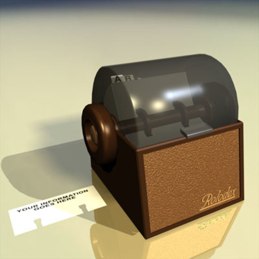 Rolodex Card File 01 royalty-free 3d model - Preview no. 1
