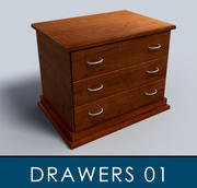 Chest_of_Drawers_01 3d model