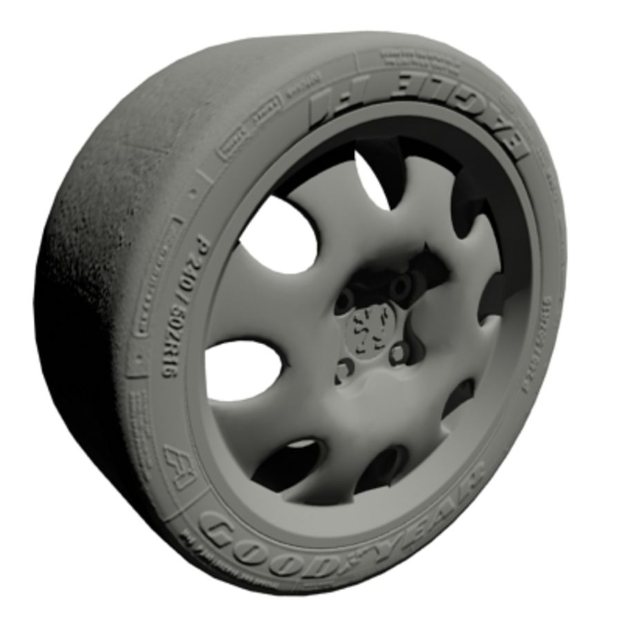car wheel royalty-free 3d model - Preview no. 5