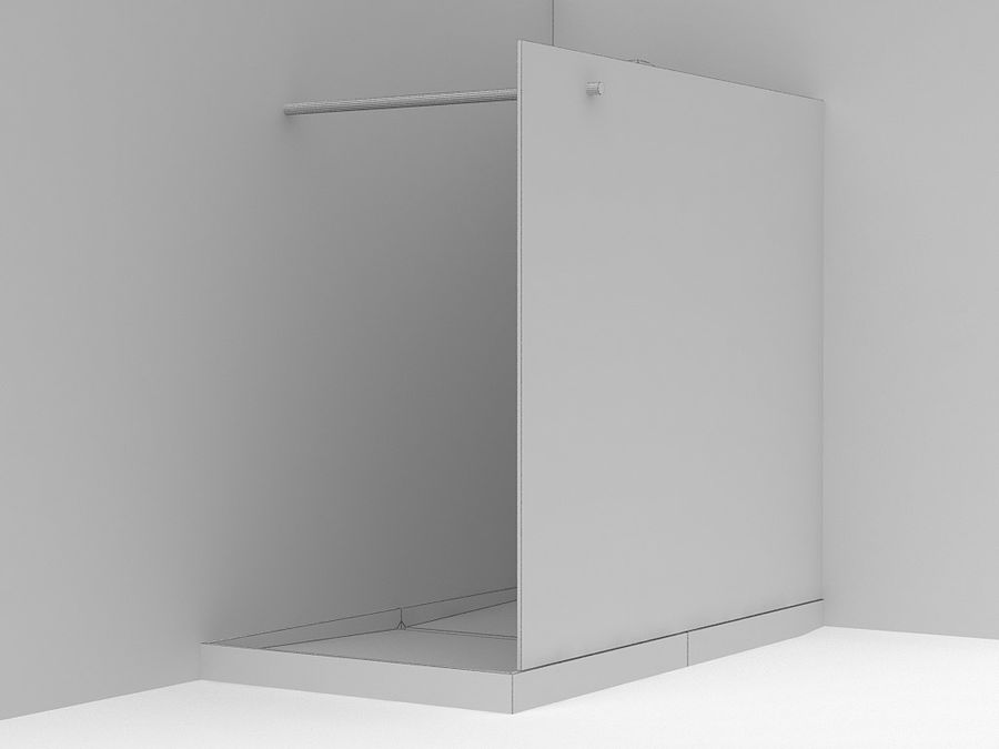 Shower 07 royalty-free 3d model - Preview no. 2