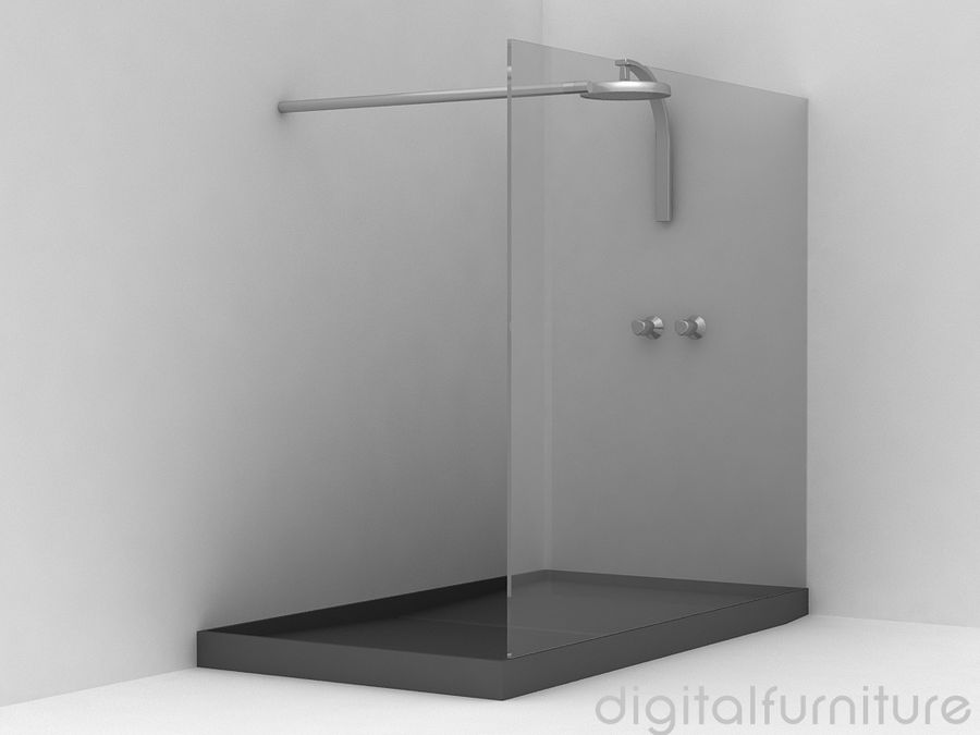 Shower 07 royalty-free 3d model - Preview no. 1