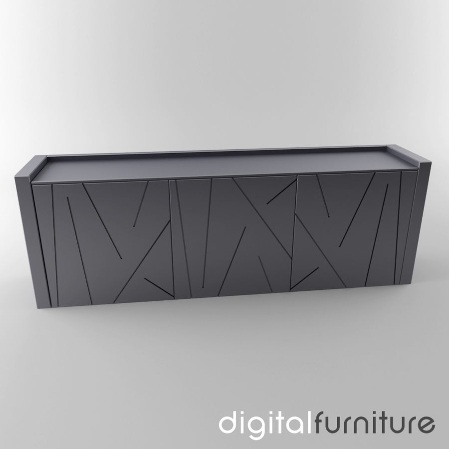 Sideboard 11 royalty-free 3d model - Preview no. 1