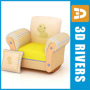 Kids chair 01 by 3DRivers 3d model