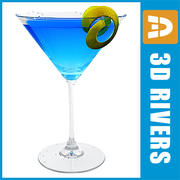 Blue martini by 3DRivers 3d model