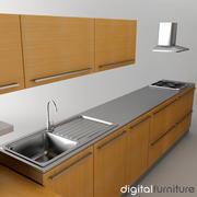Кухня 06 3d model