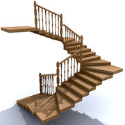 stair wood 3d model