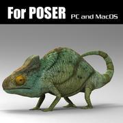 Chameleon_Poser 3d model