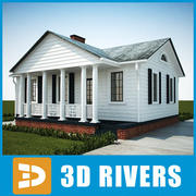 Small town house 38 by 3DRivers 3d model