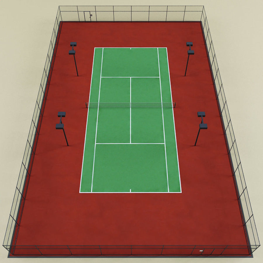 Tennis Court royalty-free 3d model - Preview no. 2