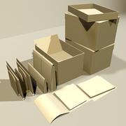 File Box and Folders 01 3d model