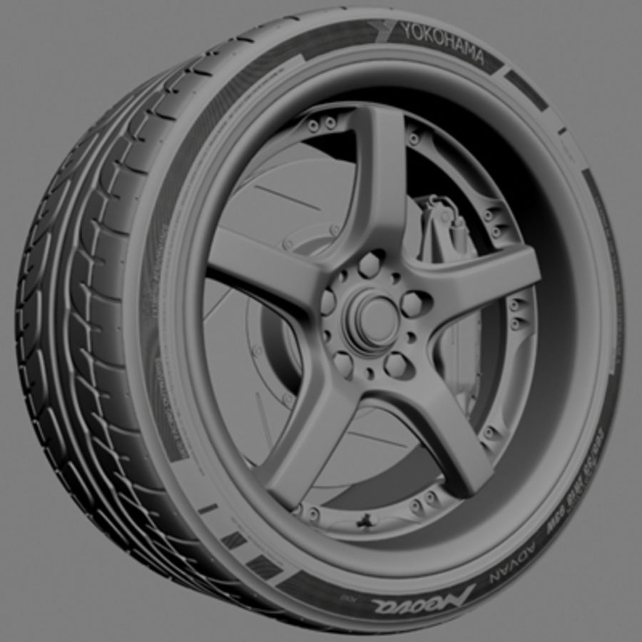 Volts Racing GTS Wheel royalty-free 3d model - Preview no. 5