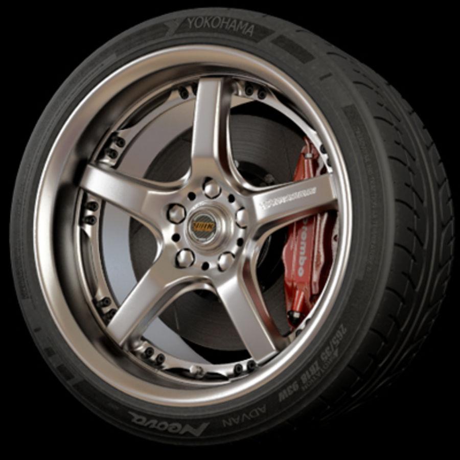 Volk Racing GTS Wheel royalty-free 3d model - Preview no. 1